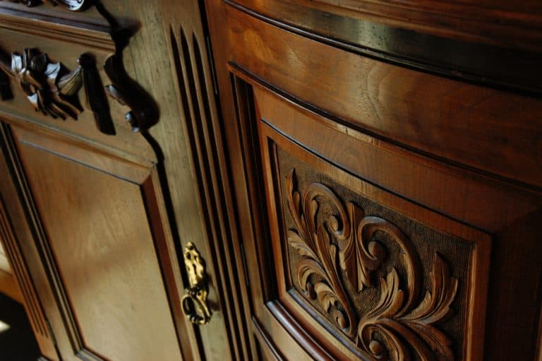 Carved Wooden Cabinet