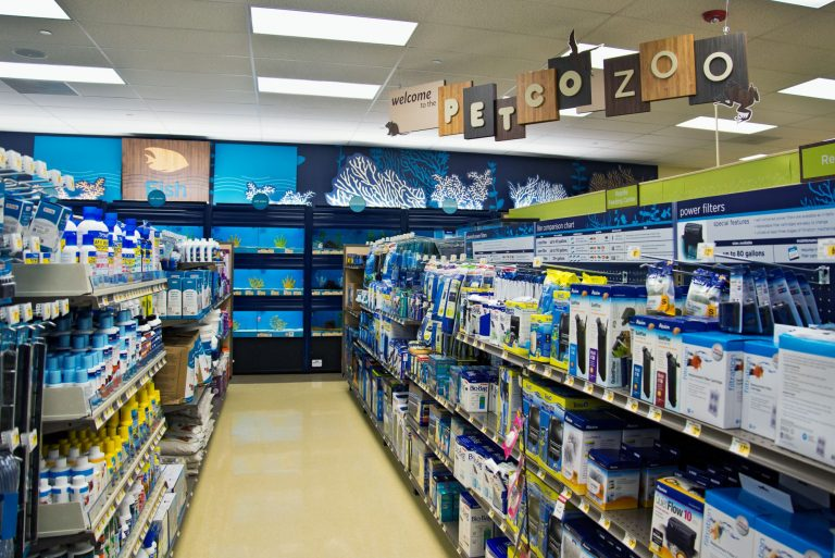 Pet Store Aquarium Filter Aisle